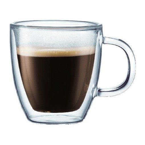 Bistro Double Wall Glass Espresso Mug 150ml – Set of 2