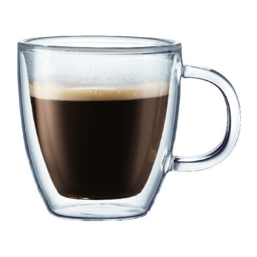 Bodum Bistro Double Wall Glass Espresso Mug 150ml – Set of 2