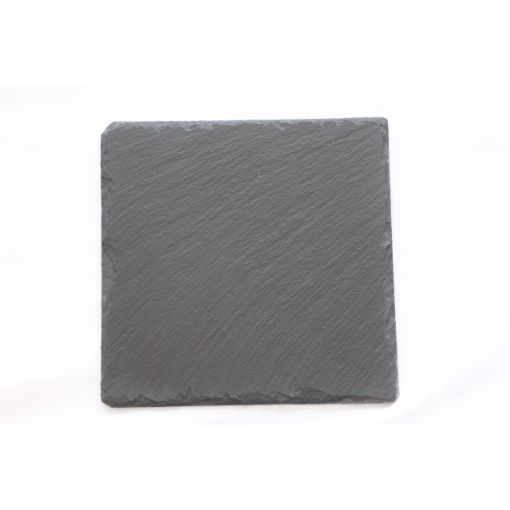 GreenLeaf Square Slate Coasters 10cm X 10cm, Set of 4