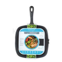 kitchen craft cast iron grill pan
