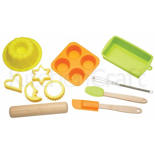 Let's Make Children's 11 Piece Silicone Bakeware Set