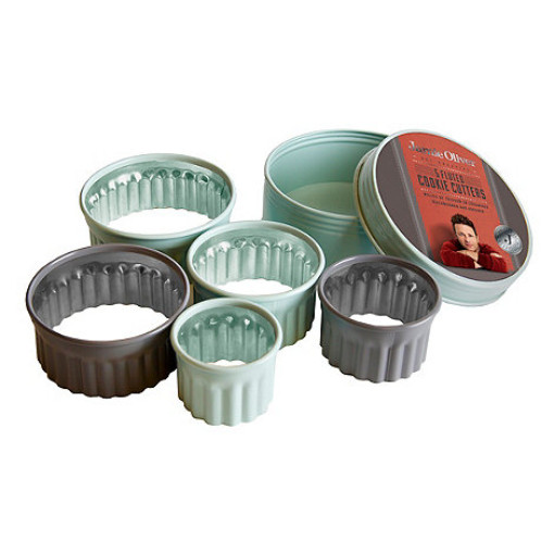 Jamie Oliver Fluted Cookie Cutters - Set of 5