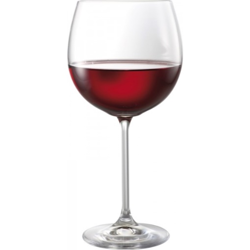 Bohemia Natalie Burgundy Wine Glasses 570ml Box of 6