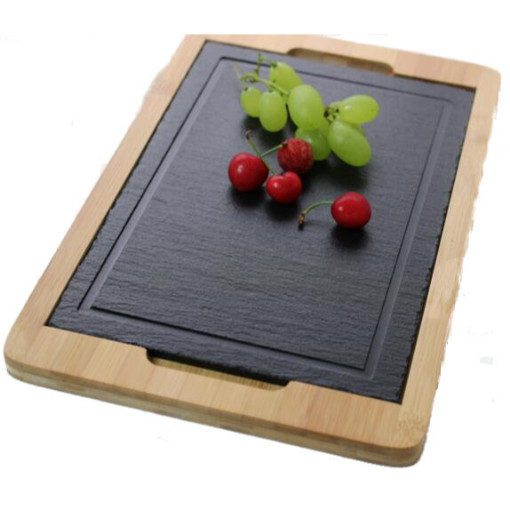 Bamboo Cheese Board with Slate Insert