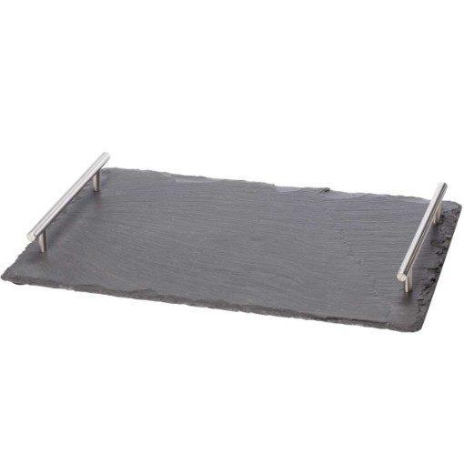 Slate Cheese Board with metal handles