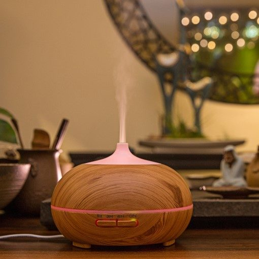 GreenLeaf Essential Oil Diffuser and Humidifier 300ml with LED Lights