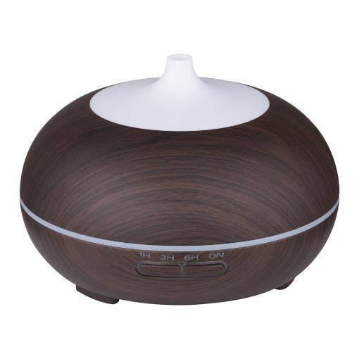 GreenLeaf Essential Oil Diffuser and Humidifier 300ml with LED Lights, Dark Wood