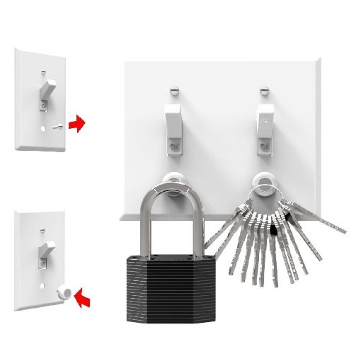 KeyCatch Magnetic Key Holder and Organiser from KeySmart, Pack of 3