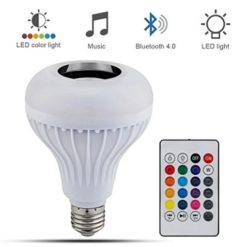 Smugg LED Bluetooth Light Bulb Music Speaker