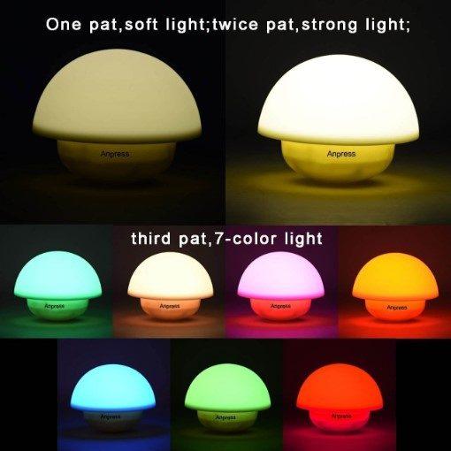 Smugg LED Silicone Mushroom Tumbler Night Light