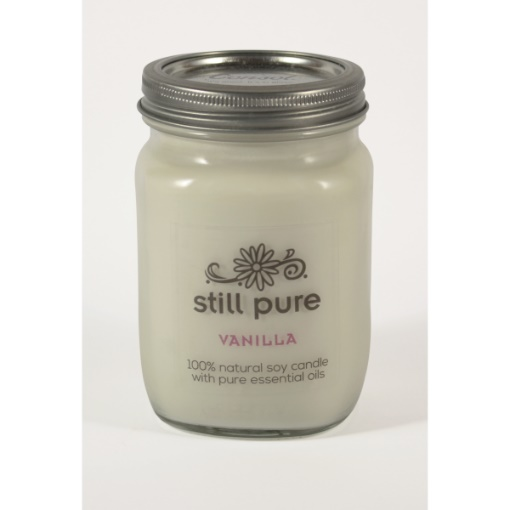 Still Pure Vanilla Soy Candle in Mason Jar