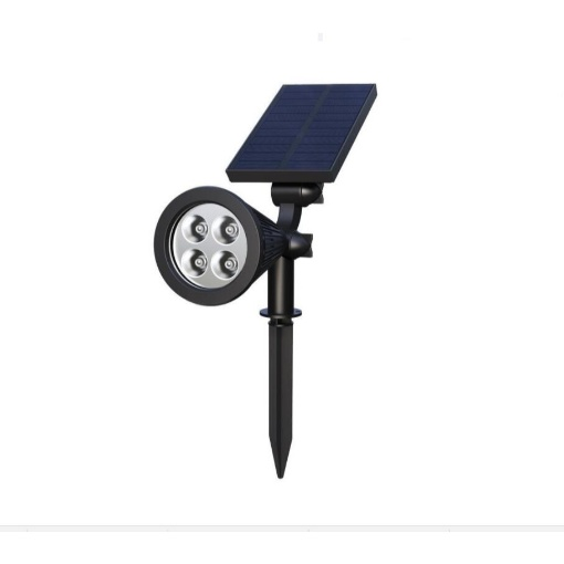 Smugg Solar Garden Spot Light with 4 LED Lights