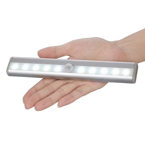 Smugg Rechargeable Cabinet Motion Sensor LED Light, 10 LEDs