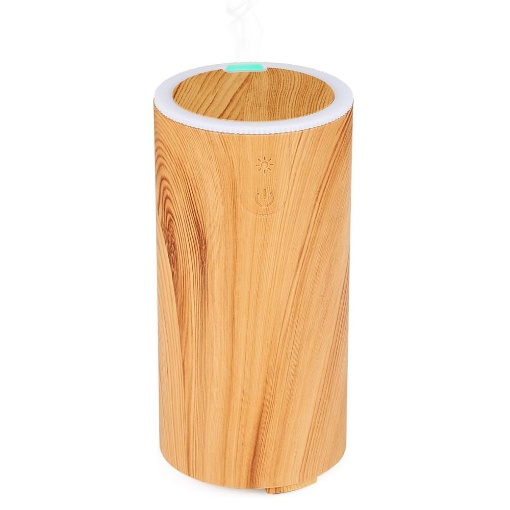 GreenLeaf USB Ultrasonic Essential Oil Diffuser, Light Wood