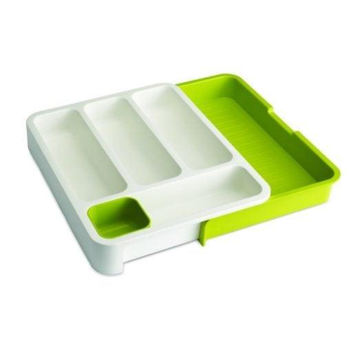 Joseph Joseph Expandable Cutlery Tray Green