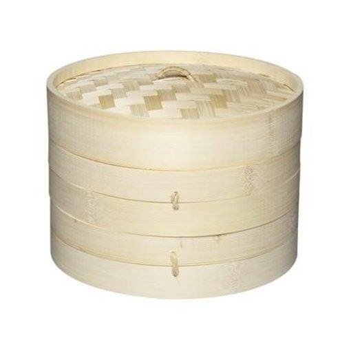 KitchenCraft World of Flavours Oriental Medium Two Tier Bamboo Steamer