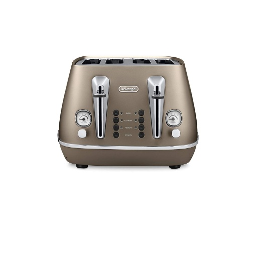 Delonghi Distinta 4 Slice Toaster, Bronze