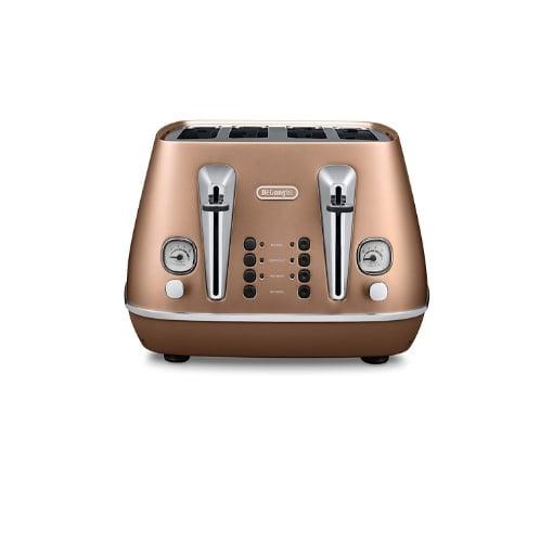 Delonghi Distinta 4 Slice Toaster, Copper