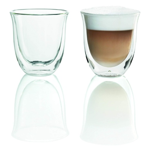Delonghi Double Walled Cappuccino Glasses