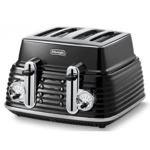 Delonghi Scultura 4 Slice Toaster, Carbon Black
