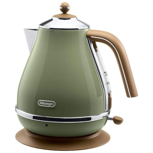 Delonghi Icona Vintage Kettle, Olive Green