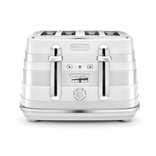 Delonghi Avvolta 4 Slice Toaster, White
