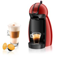 Nescafe Dolce Gusto Piccolo Manual Coffee Capsule Machine Red
