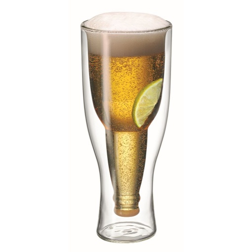 Avanti Top Up Twin Wall Beer Glass 400ml