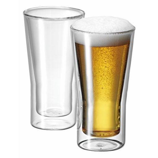 Avanti Uno Twin Wall Beer Glasses 2 Piece Set 350ml