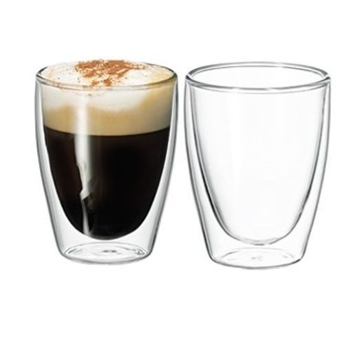 Avanti Twin Glass Wall Caffe 250ml Set of 2