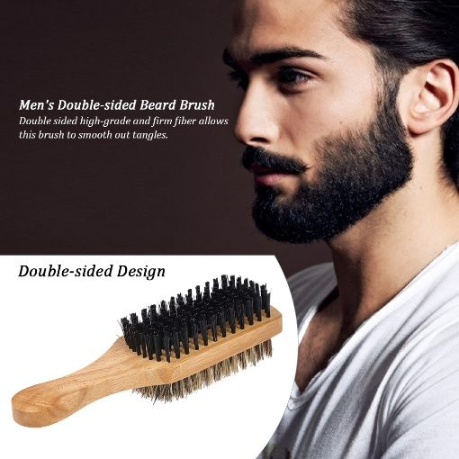 GreenLeaf Wooden Double Sided Beard Brush