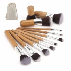 GreenLeaf Makeup Brush Set 12 Piece with Bamboo Handles