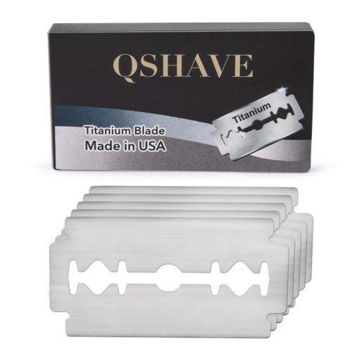 QShave Titanium Double Edge Razor Blades 3 Packs of 5 Blades