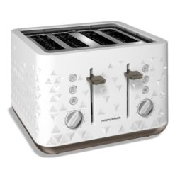 Morphy Richards Prism 4 Slice Toaster White
