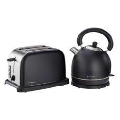 Russell Hobbs Matt Black Kettle and Toaster Breakfast Set