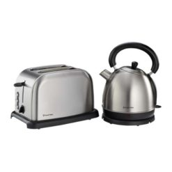 Russell Hobbs Brushed S/Steel Kettle and Toaster Breakfast Set