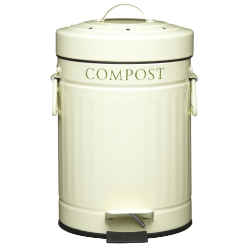 Kitchen Craft Compost Bin Cream 3L