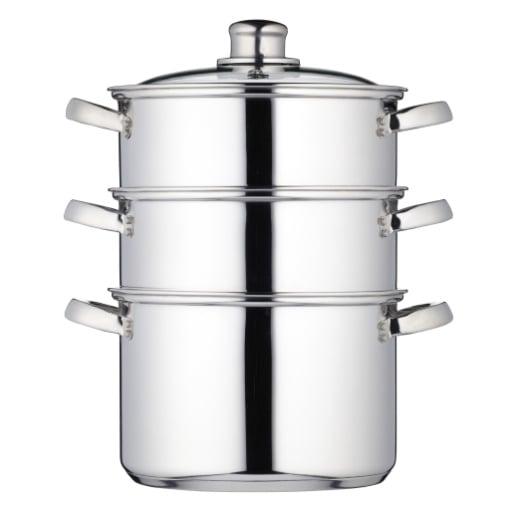 Kitchen Craft Stainless Steel Three Tier Steamer