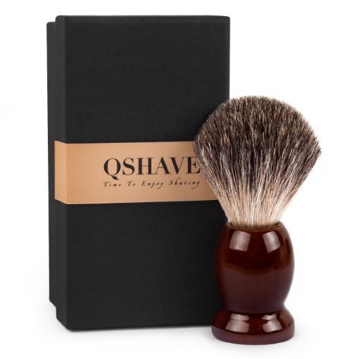 QShave Pure Badger Hair Shaving Brush