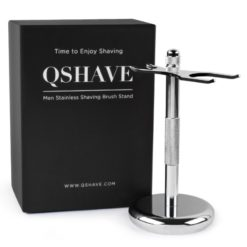 QShave Razor and Brush Chrome Stand Holder