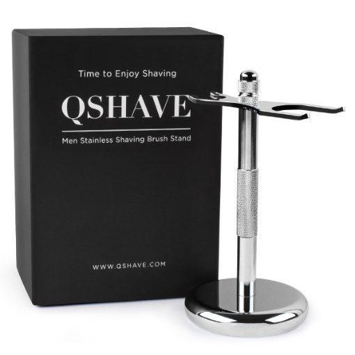 QShave Razor and Brush Chrome Stand Holder