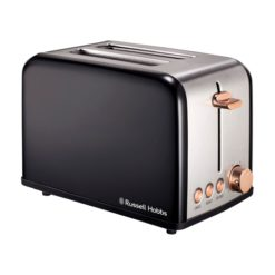 Russell Hobbs Black and Rose Gold 2 Slice Toaster
