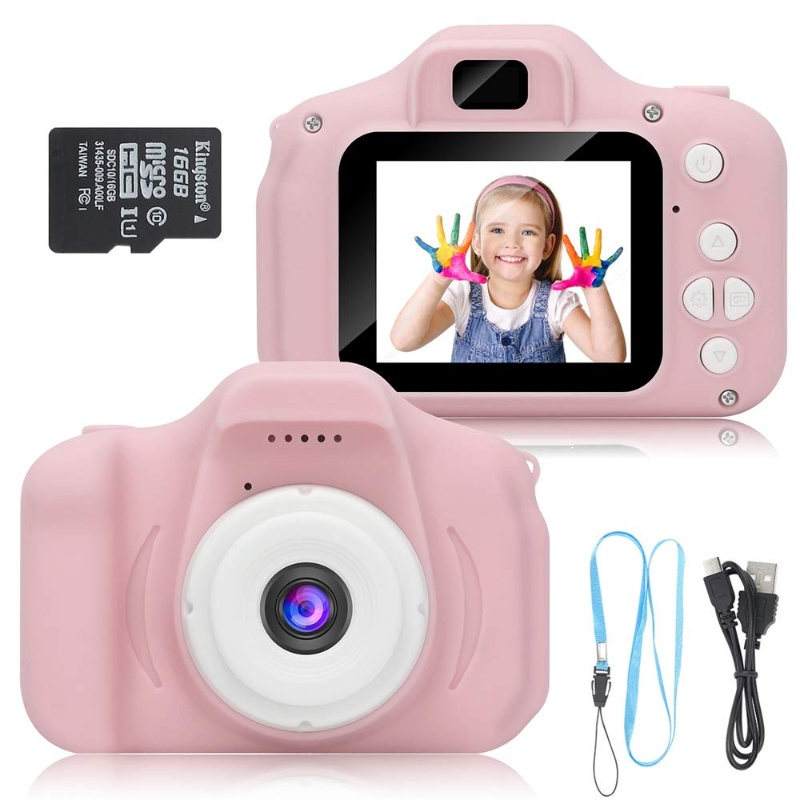 Kids Digital USB Charged Camera Pink