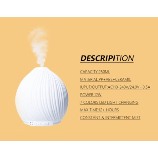 GreenLeaf Twirl Essential Oil Diffuser & Humidifier 400ml, White