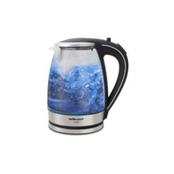 Mellerware Kettle 360 Degree Cordless 1.8L Glass and Silver