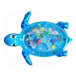 Tummy Time Turtle Water Baby Play Mat Inflatable Blue