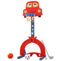 Time2Play 5 in 1 Kids Sports Activity Set with Music - Red