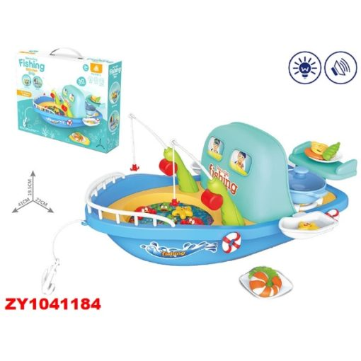 Time2Play Fishing Boat with Kitchen Play Set