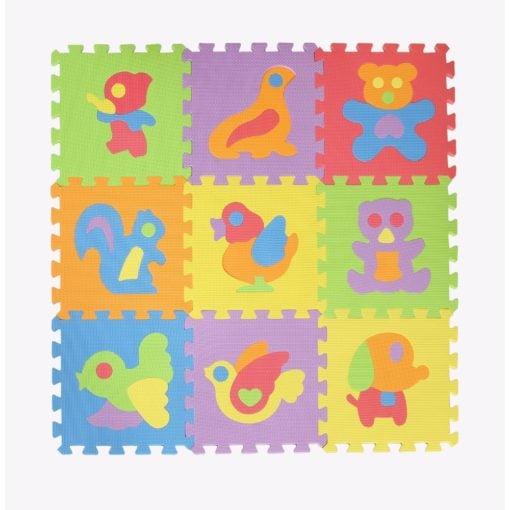 Time2Play Eva Foam Puzzle Animal Play Mat 9 Piece
