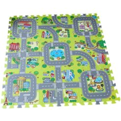 Time2Play Eva Foam Puzzle Traffic Play Mat 9 Piece